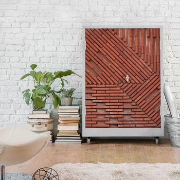 Carta Adesiva per Mobili - Design brick red