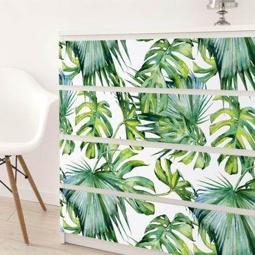 Carta adesiva per mobili tropicale - Foglie della giungla