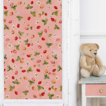 Carta Adesiva per Mobili - The Strawberry Fairy - Strawberry Flowers