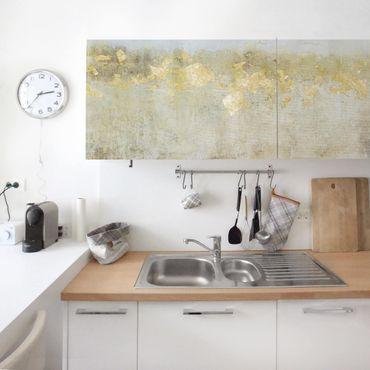 Carta adesiva per mobili - Campo di beton dorato I