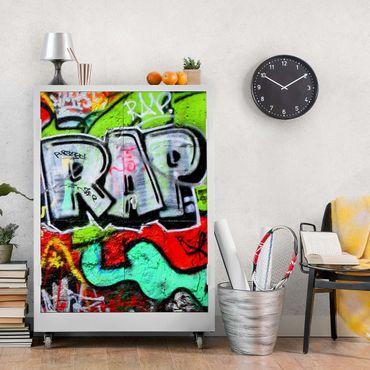 Carta Adesiva per Mobili - Graffiti Wall