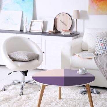 Carta Adesiva per Mobili - 3 colours violet flowers & bright contrasting colour