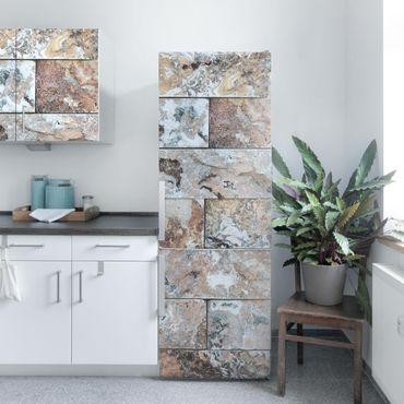 Carta Adesiva per Mobili - Natural Marble Stone Wall