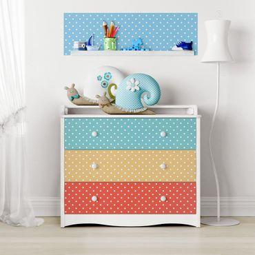Carta Adesiva per Mobili - Pastel colours dotted white
