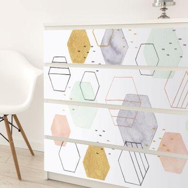 Carta adesiva per mobili - Forme esagonali I