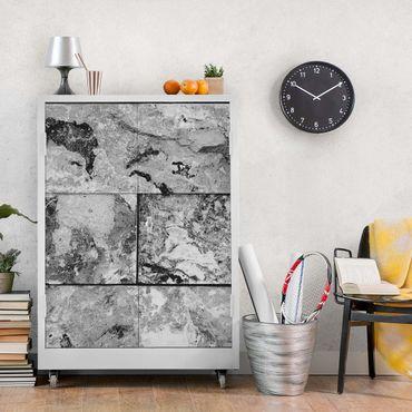 Carta Adesiva per Mobili - Stone Wall Natural Marble Gray