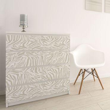 Carta Adesiva per Mobili - Zebra Design light gray stripe pattern