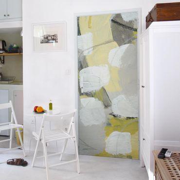 Carta adesiva per mobili - Limoni in nebbia II
