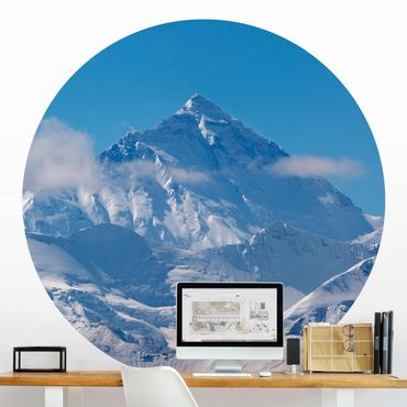 Carta da parati rotonda autoadesiva - Monte Everest