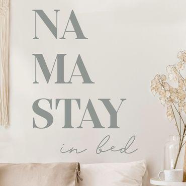 Tatuaggio murale monocromatico - Namastay a letto