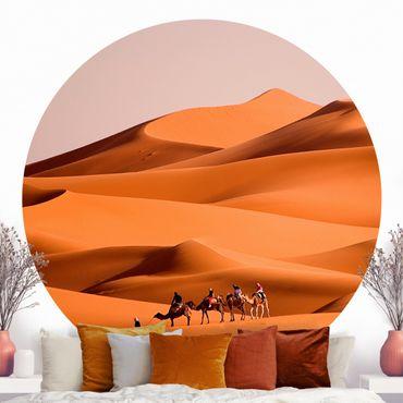 Carta da parati rotonda autoadesiva - deserto del Namib