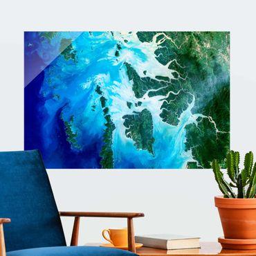 Quadro in vetro - Foto NASA arcipelago nel Sud-est asiatico