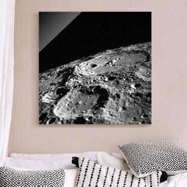 Quadro in vetro - Foto NASA cratere lunare
