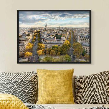 Poster con cornice - Bella giornata a Parigi