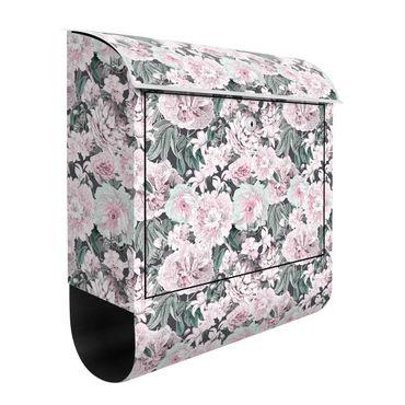 Cassetta postale - Peonie nostalgiche in rosa pastello