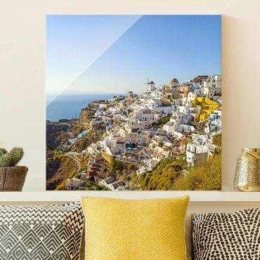 Quadro in vetro - Oia a Santorini