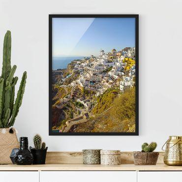 Poster con cornice - Oia a Santorini
