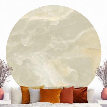 Carta da parati rotonda autoadesiva - Onyx marmo crema