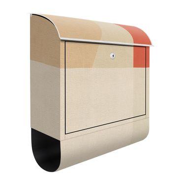 Cassetta postale - Quadrato arancione su beige