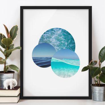 Poster con cornice - Oceani in un cerchio