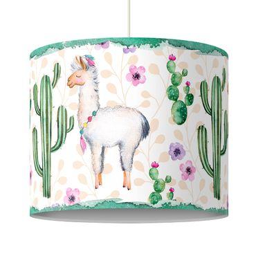 Lampadario design - Lama And Cacti Watercolor