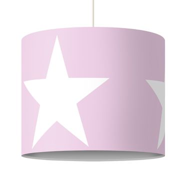 Lampadario design Big White Stars on Pink