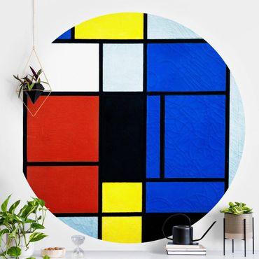 Carta da parati rotonda autoadesiva - Piet Mondrian - Tableau No. 1