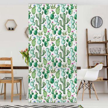Tenda a pannello - Watercolor Cactus - 250x120cm