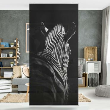 Tenda a pannello - Scuro silhouette zebra - 250x120cm