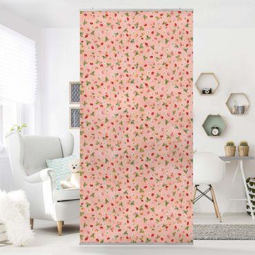 Tenda a pannello - The Strawberry Fairy - Strawberry Flowers - 250x120cm