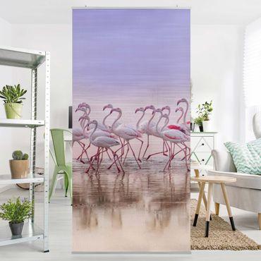 Tenda a pannello - Flamingo partito - 250x120cm