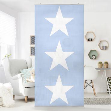 Tenda a pannello Big White Stars on Blue 250x120cm