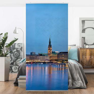 Tenda a pannello Hamburg skyline 250x120cm