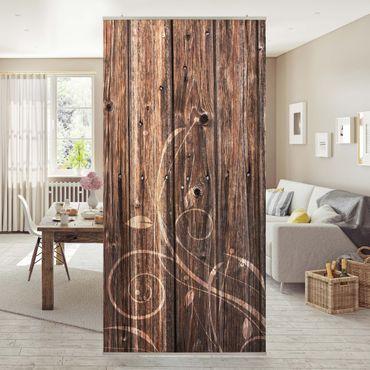 Tenda a pannello wooden fence floral 250x120cm
