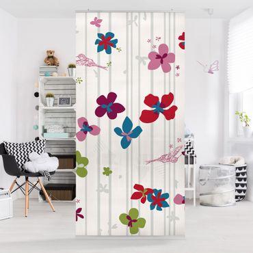 Tenda a pannello Floral Pattern 250x120cm
