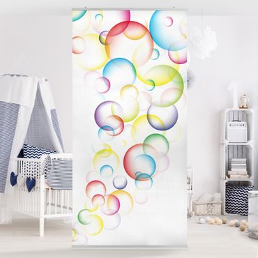 Tenda a pannello Rainbow Bubbles 250x120cm
