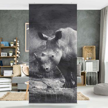 Tenda a pannello Lonesome Rhinoceros 250x120cm