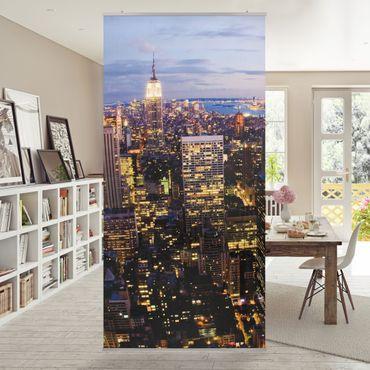 Tenda a pannello New York skyline at night 250x120cm