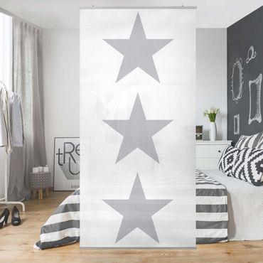 Tenda a pannello Grey Star on White 250x120cm
