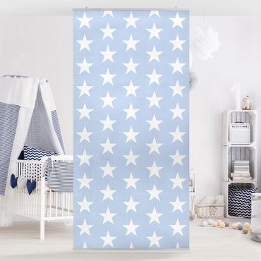 Tenda a pannello White Stars On Blue 250x120cm