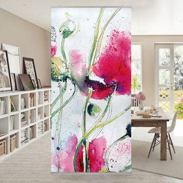 Tenda a pannello Painted Poppies 250x120cm