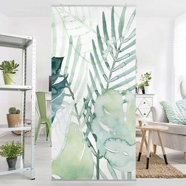 Tenda a pannello - Palm Fronde in acquerello I - 250x120cm