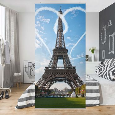 Tenda a pannello Paris - City of Love 250x120cm