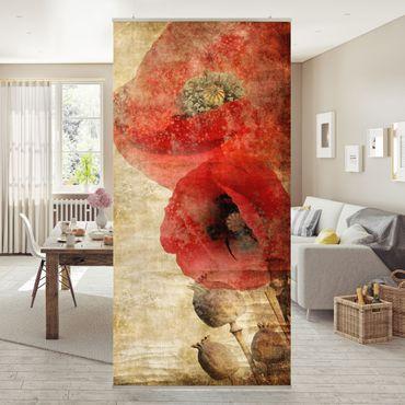 Tenda a pannello Poppy Flower 250x120cm