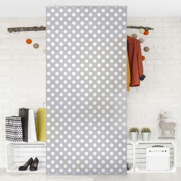 Tenda a pannello - Dots in White on Grey 250x120cm