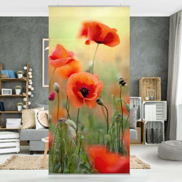 Tenda a pannello Red Summer Poppy 250x120cm