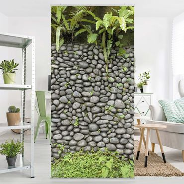 Tenda a pannello - Stone Wall With Plants - 250x120cm
