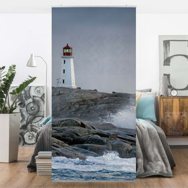 Tenda a pannello Storm Waves At The Lighthouse 250x120cm