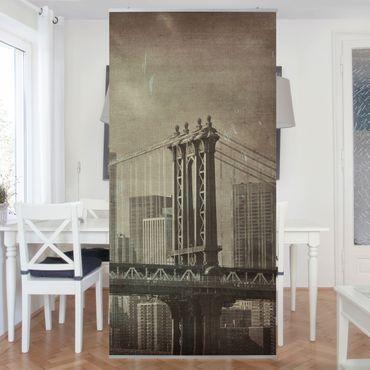 Tenda a pannello Vintage New York City 250x120cm