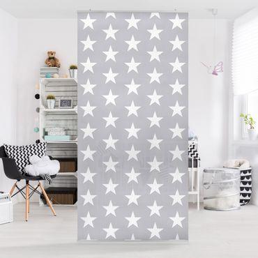 Tenda a pannello White stars on grey background 250x120cm